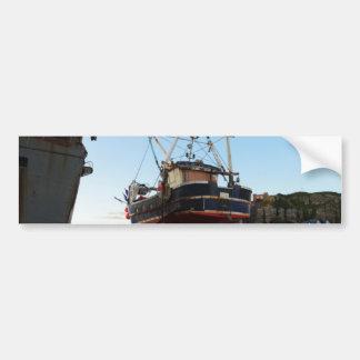 Steel Fishing Boat At Hastings Bumper Sticker