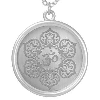 Steel Floral Ohm Design Pendants