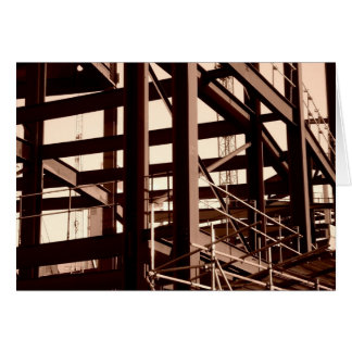 Steel Frame Construction Greeting Card
