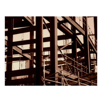 Steel Frame Construction Poster