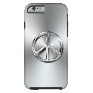 Steel Gradient Graphic Peace Symbol Tough iPhone 6 Case