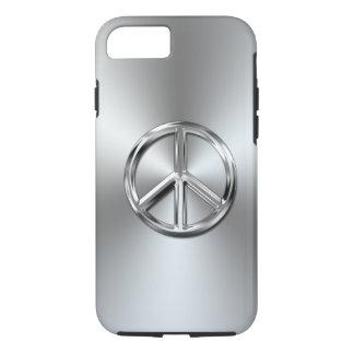 Steel Gradient Graphic Peace Symbol iPhone 8/7 Case