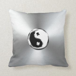 Steel Gradient Graphic Yin-Yang Symbol Cushion