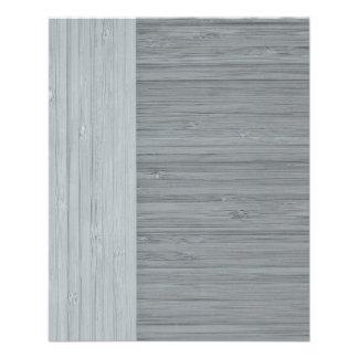 Steel Gray Bamboo Border Wood Grain Look 11.5 Cm X 14 Cm Flyer