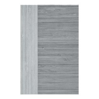 Steel Gray Bamboo Border Wood Grain Look 14 Cm X 21.5 Cm Flyer