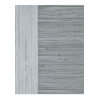 Steel Gray Bamboo Border Wood Grain Look 21.5 Cm X 28 Cm Flyer