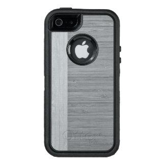 Steel Gray Bamboo Border Wood Grain Look OtterBox iPhone 5/5s/SE Case