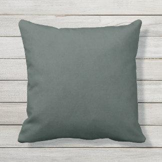 Steel Gray Green Color Velvet Look Outdoor Cushion