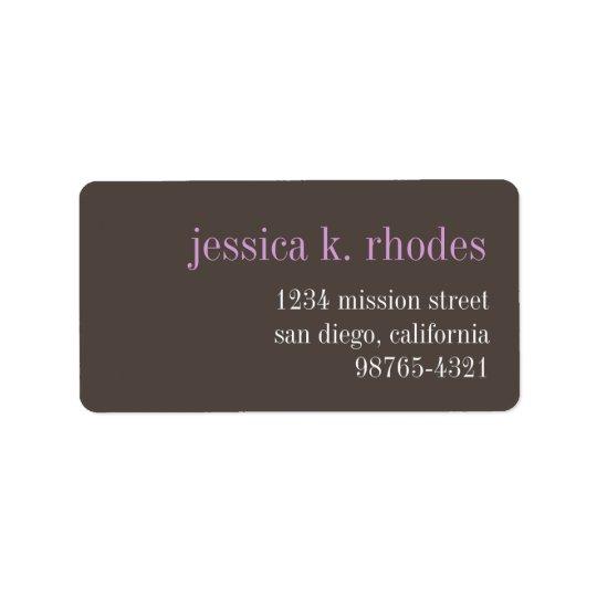 Steel grey lilac typography modern return address label