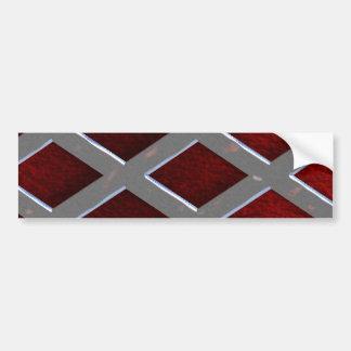 Steel Grid Over Lava Bumper Sticker