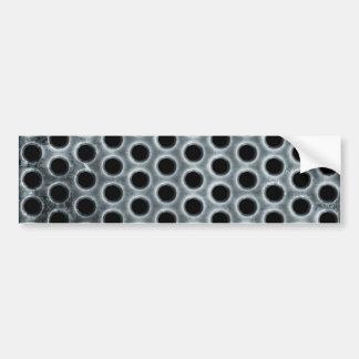 Steel Holes Metal Mesh Pattern Bumper Sticker