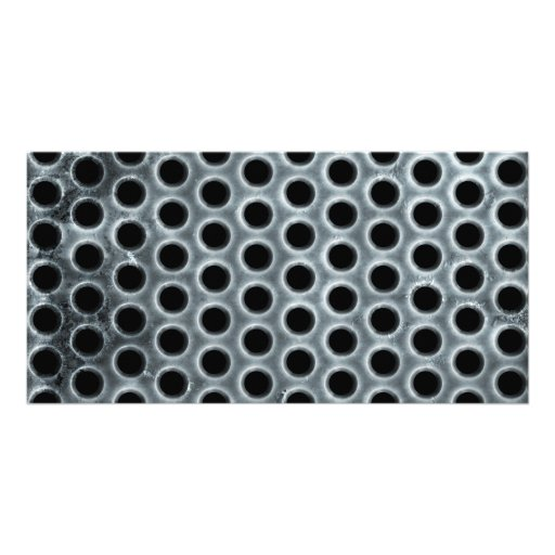 Steel Holes Metal Mesh Pattern Customized Photo Card