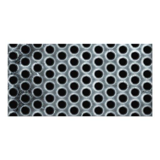 Steel Holes Metal Mesh Pattern Customized Photo Card