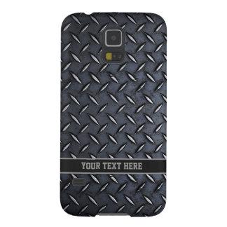 Steel look Custom Text Galaxy case