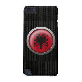 Steel Mesh Albanian Flag Disc Graphic iPod Touch (5th Generation) Case