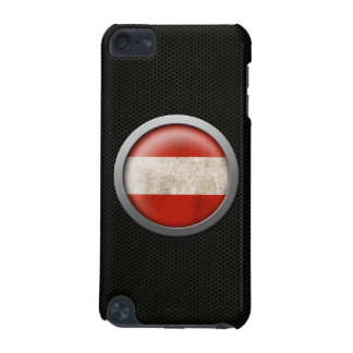 Steel Mesh Austrian Flag Disc Graphic iPod Touch (5th Generation) Case