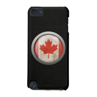 Steel Mesh Canadian Flag Disc Graphic iPod Touch 5G Cases