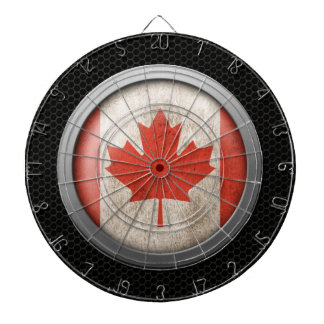 Steel Mesh Canadian Flag Disc Graphic Dartboard