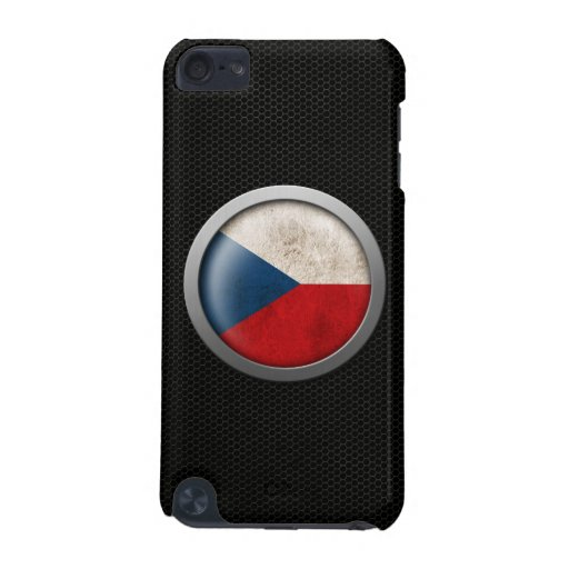 Steel Mesh Czech Republic Flag Disc Graphic iPod Touch (5th Generation) Cases