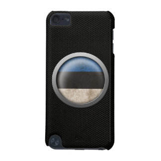 Steel Mesh Estonian Flag Disc Graphic iPod Touch (5th Generation) Covers