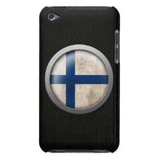 Steel Mesh Finnish Flag Disc Graphic Barely There iPod Covers