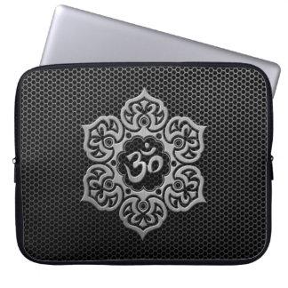 Steel Mesh Floral Om Laptop Sleeve