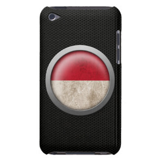 Steel Mesh Indonesian Flag Disc Graphic Barely There iPod Cases