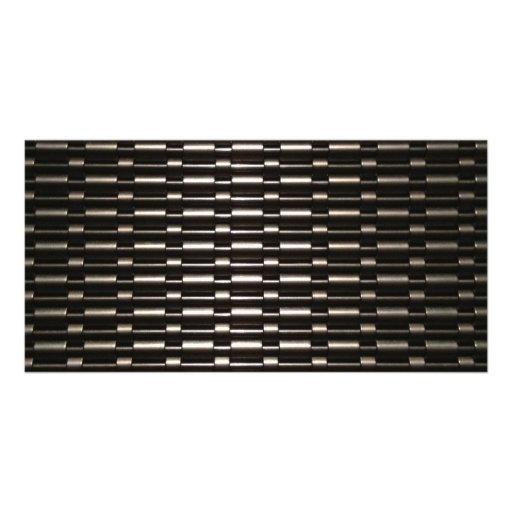 Steel Mesh industrial pattern Photo Cards