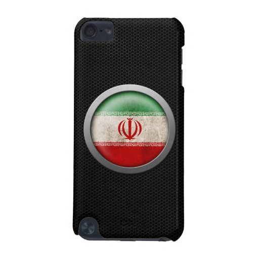 Steel Mesh Iranian Flag Disc Graphic iPod Touch 5G Cover