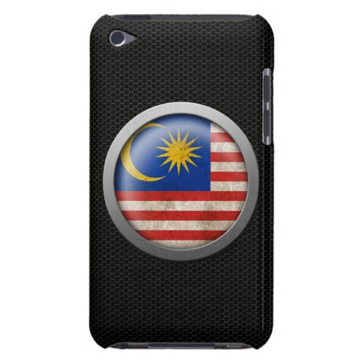 Steel Mesh Malaysian Flag Disc Graphic Barely There iPod Cases