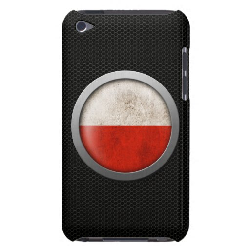 Steel Mesh Polish Flag Disc Graphic Barely There iPod Cases