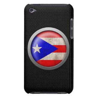 Steel Mesh Puerto Rico Flag Disc Graphic Barely There iPod Covers