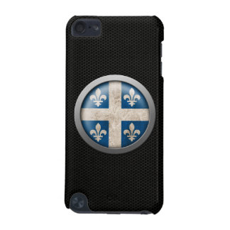 Steel Mesh Quebecois Flag Disc Graphic iPod Touch (5th Generation) Cases