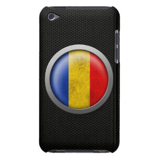 Steel Mesh Romanian Flag Disc Graphic Barely There iPod Cover
