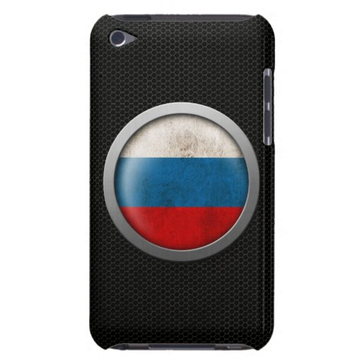 Steel Mesh Russian Flag Disc Graphic Barely There iPod Covers