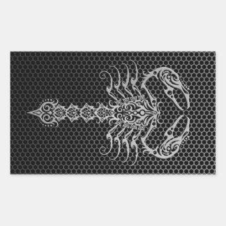Steel Mesh Scorpion Rectangular Sticker