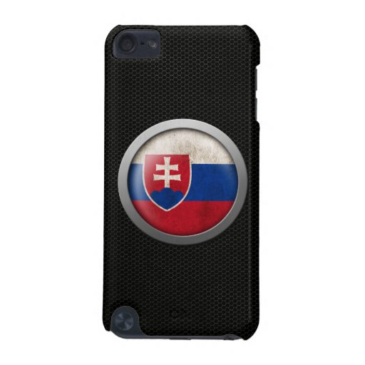 Steel Mesh Slovakian Flag Disc Graphic iPod Touch (5th Generation) Cases