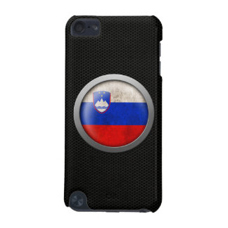 Steel Mesh Slovenian Flag Disc Graphic iPod Touch (5th Generation) Case