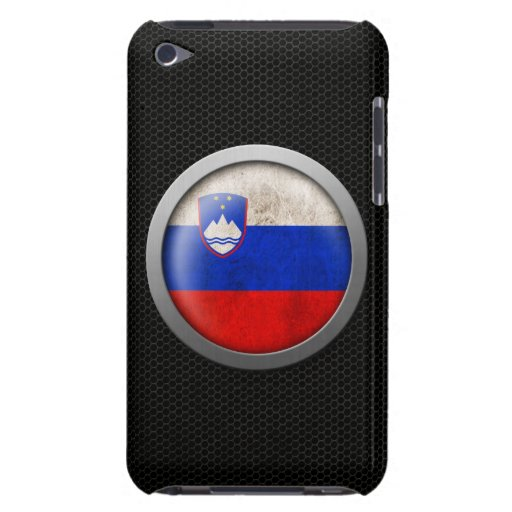 Steel Mesh Slovenian Flag Disc Graphic iPod Touch Cases