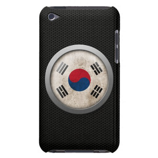 Steel Mesh South Korea Flag Disc Graphic iPod Touch Case
