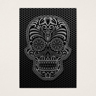 Steel Mesh Sugar Skull Business Card