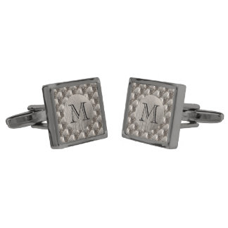 Steel metal 0132 gunmetal finish cufflinks