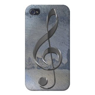 Steel Metal-effect Music-lover iPhone 4 Case