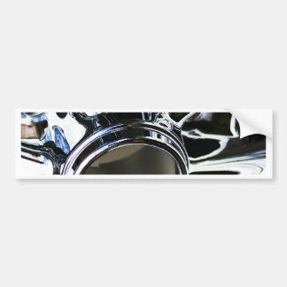Steel Metal Glossy Fine Digital Art Beautiful Ligh Bumper Sticker