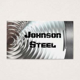 Steel Metal Look Business Cards