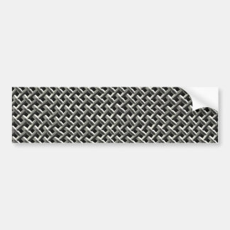 Steel Metal Mesh Pattern (faux) Car Bumper Sticker
