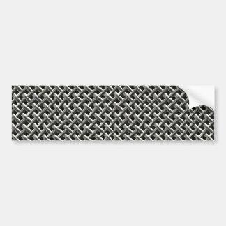 Steel Metal Mesh Pattern (faux) Bumper Sticker