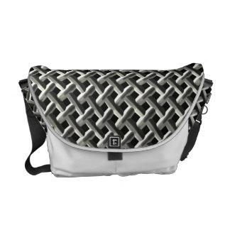 Steel Metal Mesh Pattern (faux) Courier Bag