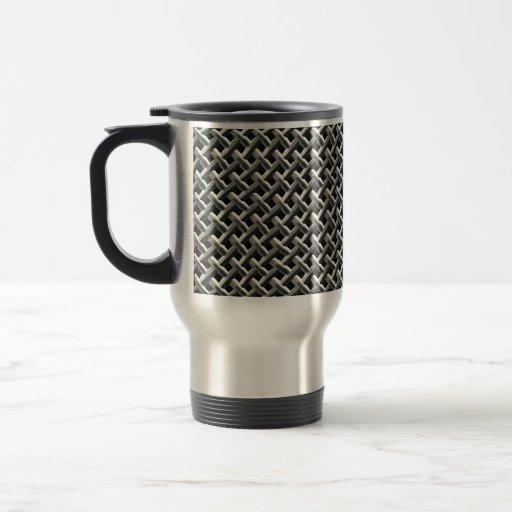 Steel Metal Mesh Pattern (faux) Mugs
