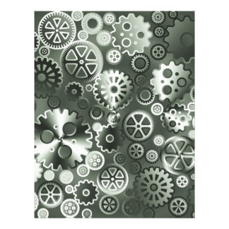 Steel metallic gears 21.5 cm x 28 cm flyer